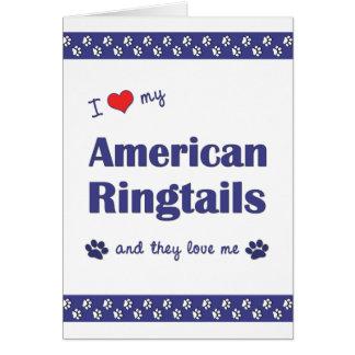 I Liebe meine amerikanischen Ringtails (mehrfache Karte