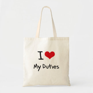 I Liebe meine Aufgaben Tasche