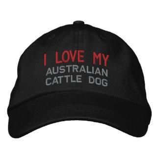 I Liebe meine australische Vieh-Hundezucht Bestickte Kappe