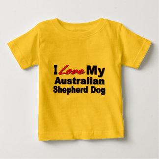 I Liebe meine australischen Schäfer-Hundewaren Baby T-shirt