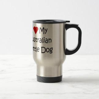 I Liebe meine australischen Vieh-Hundegeschenke Reisebecher