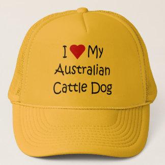 I Liebe meine australischen Vieh-Hundegeschenke Truckerkappe