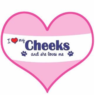 I Liebe meine Backen (weiblicher Hund) Fotofiguren