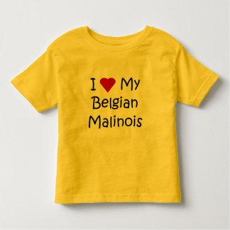 I Liebe meine belgischen Malinois Kleinkinder T-shirt