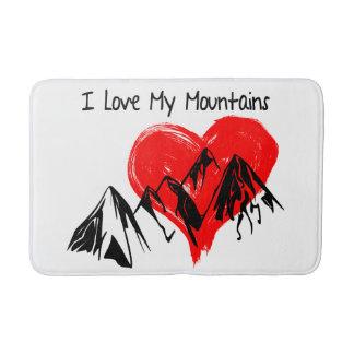 I Liebe meine Berge! Badematte