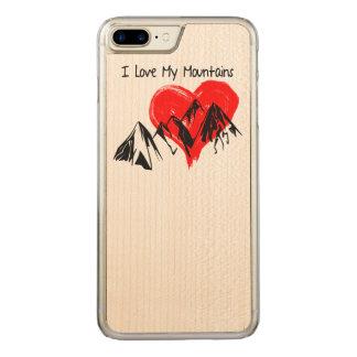 I Liebe meine Berge! Carved iPhone 8 Plus/7 Plus Hülle