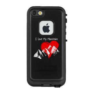 I Liebe meine Berge! LifeProof FRÄ' iPhone SE/5/5s Hülle