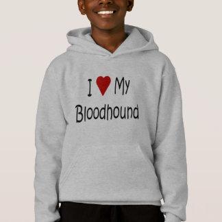 I Liebe meine Bluthund-Hundeliebhaber-Geschenke Hoodie