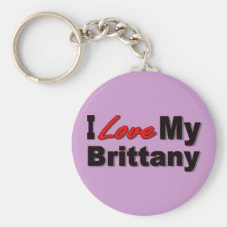 I Liebe meine Bretagne-Hundewaren Schlüsselanhänger