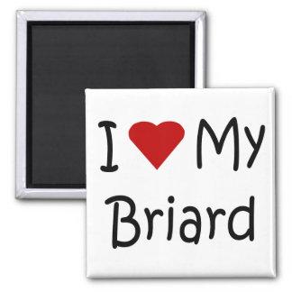 I Liebe meine Briard Hundeliebhaber-Geschenke und  Kühlschrankmagnete