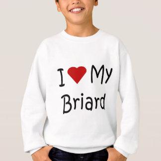 I Liebe meine Briard Hundeliebhaber-Geschenke und Sweatshirt