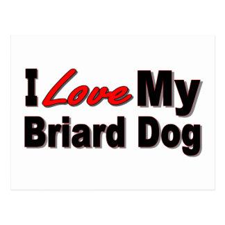 I Liebe meine Briard Hundewaren Postkarte
