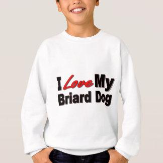 I Liebe meine Briard Hundewaren Sweatshirt
