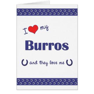 I Liebe meine Burros (mehrfache Burros) Karte