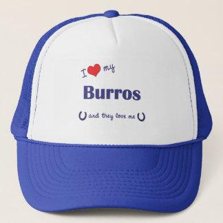 I Liebe meine Burros (mehrfache Burros) Truckerkappe