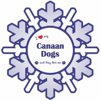 I Liebe meine Canaan Hunde (mehrfache Hunde) Acrylausschnitte