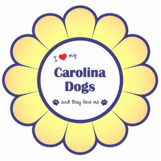 I Liebe meine Carolina-Hunde (mehrfache Hunde) Acrylausschnitte