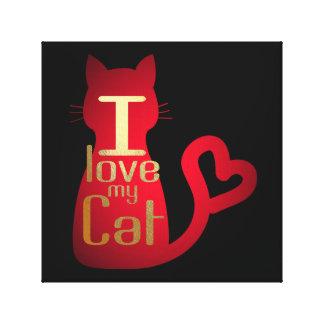 I LIEBE MEINE CAT-LEINWAND-KUNST! LEINWANDDRUCK