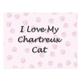 I Liebe meine Chartreux Katze Postkarte