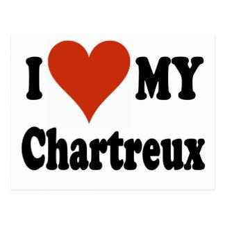 I Liebe meine Chartreux Katzen-Waren Postkarte