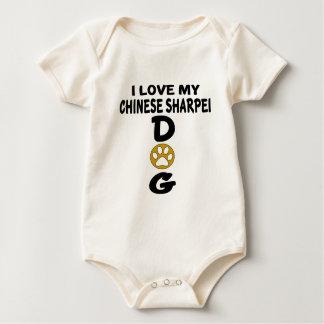 I Liebe meine Chinese Sharpei Hundeentwürfe Baby Strampler