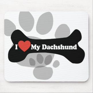 I Liebe meine Dackel - Hundeknochen Mousepads