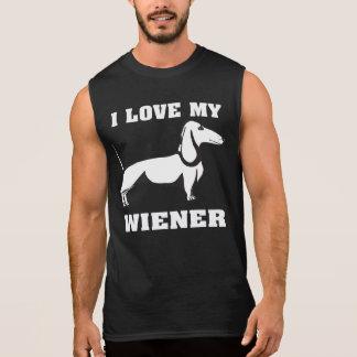 I Liebe meine Dackel-lustigen Dackel-Inhaber Ärmelloses Shirt