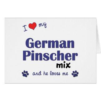 I Liebe meine deutsche Pinscher-Mischung Karte