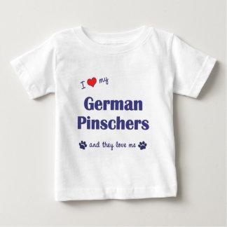 I Liebe meine deutschen Pinschers (mehrfache Baby T-shirt