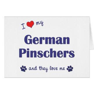 I Liebe meine deutschen Pinschers (mehrfache Karte