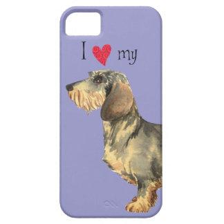 I Liebe meine Drahthaar-Dackel Schutzhülle Fürs iPhone 5