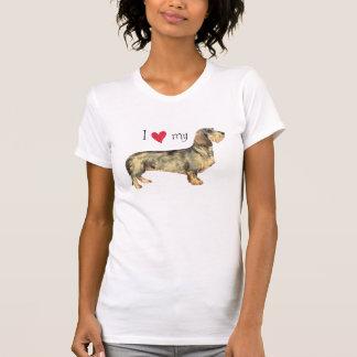 I Liebe meine Drahthaar-Dackel T-Shirt