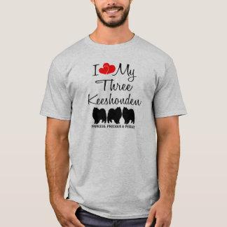 I Liebe meine drei Keeshonden T-Shirt