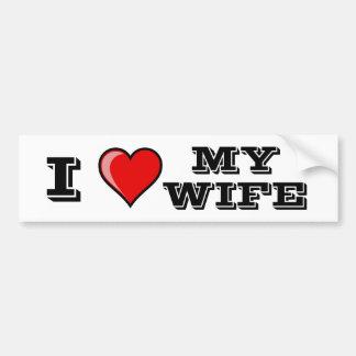 I Liebe meine Ehefrau Autoaufkleber