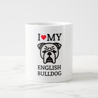 I Liebe meine englische Bulldogge Jumbo-Tasse
