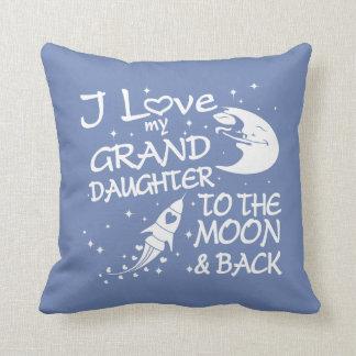 I Liebe meine Enkelin zum Mond und zur Rückseite Kissen