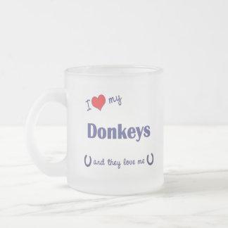 I Liebe meine Esel (mehrfache Esel) Mattglastasse