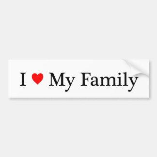 I Liebe meine Familie Autoaufkleber