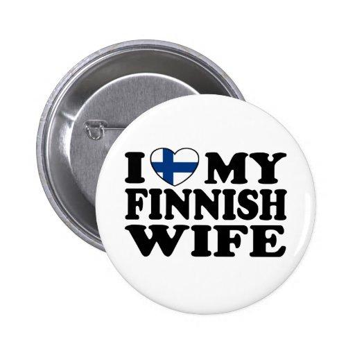 I Liebe meine finnische Ehefrau Button