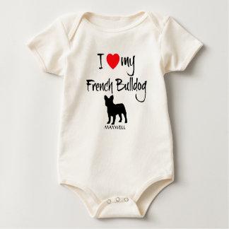 I Liebe meine französische Bulldogge Baby Strampler