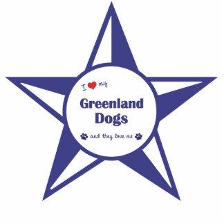I Liebe meine Grönland-Hunde (mehrfache Hunde) Photoskulptur