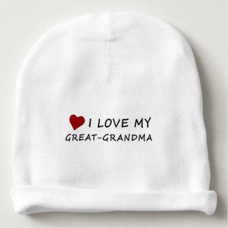 I Liebe meine Groß-Großmutter mit Herzen Babymütze