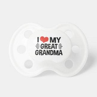 I Liebe meine große Großmutter Schnuller