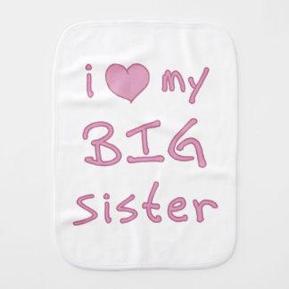 I Liebe meine große Schwester Baby Spucktuch