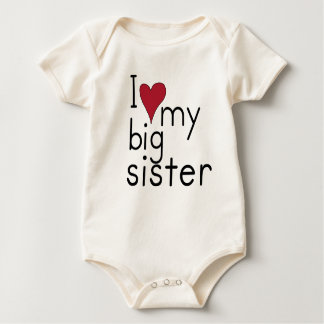 I Liebe meine große Schwester Baby Strampler