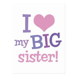 I Liebe meine große Schwester Postkarte