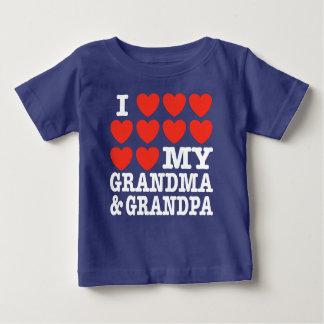 I Liebe meine Großmutter und Großvater Baby T-shirt