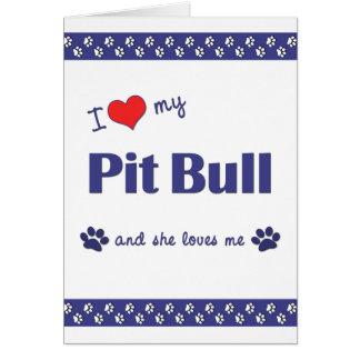I Liebe meine Grube Stier (weiblicher Hund) Karte