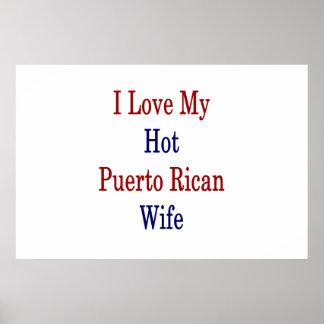 I Liebe meine heiße puertorikanische Ehefrau Poster