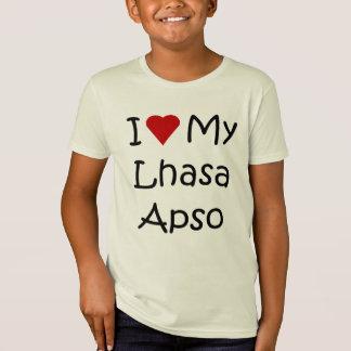 I Liebe meine Hundeliebhaber-Geschenke Lhasas Apso T-Shirt